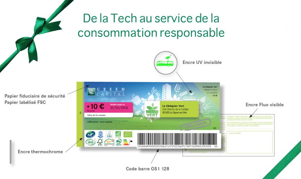 startup chéquier vert